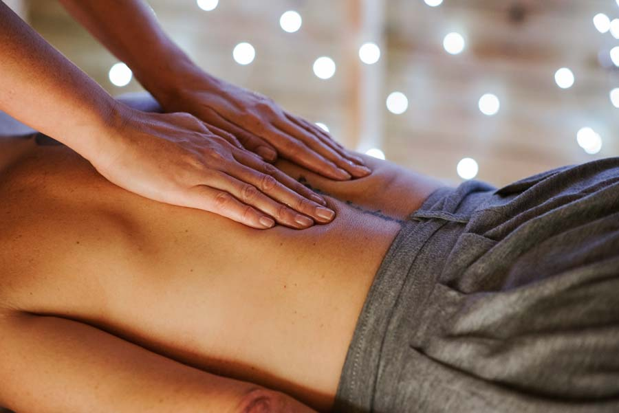 Back Massage with CBD