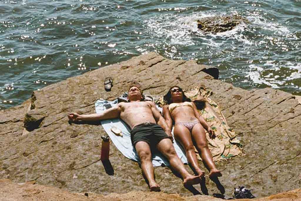 Paar in der Sonne